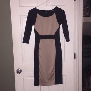 Alloy dress Black and Tan